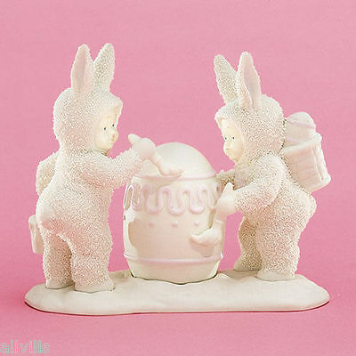 I'LL PAINT THE TOP BUNNY 26034 Spring DEPT 56 RETIRED SNOWBUNNIES