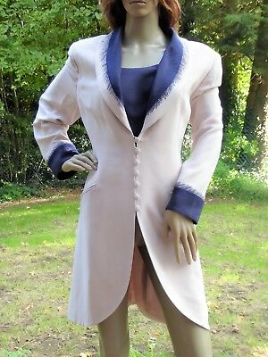 *TOM BOWKER* Ladies Beige/Navy Special Occasion EVENING JACKET UK16 BNWOT rp£415