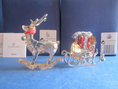 Swarovski Christmas Winter reindeer & Winter sleigh