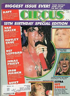 October 31 1984 Circus Magazine-Ratt Cover & Twisted Sister Dee Snider Poster
