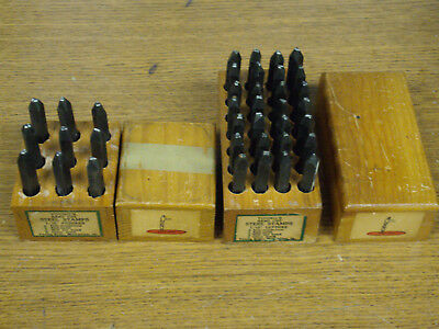 """Complete Set Numbers & Letters 3/8"""" Inch Youngs Steel Stamps Figures"""