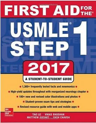 First Aid for USMLE Step 1, 2017:  REVIEW BOOK