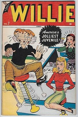 - 99¢ Opening Bid - WILLIE COMICS #7 Golden Age 1947 Timely comic
