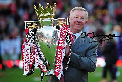 Alex Ferguson From Manchester United Signed Autographed Photo