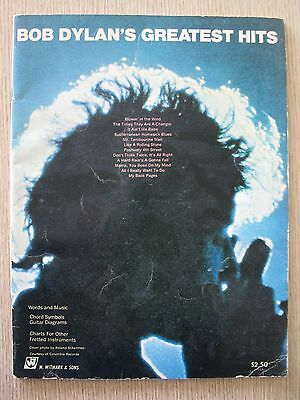 Bob Dylan's Greatest Hits Songbook Rare Vintage Witmark & Sons