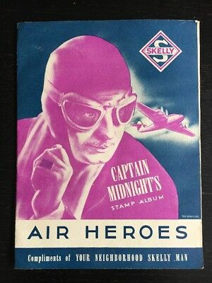 Skelly Captain Midnight's Stamp Album FULL Air Heroes 1930's