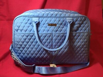Vera Bradley Weekender Carry on Travel Bag/ Luggage Sky Blue New w/Tags FREE s/h