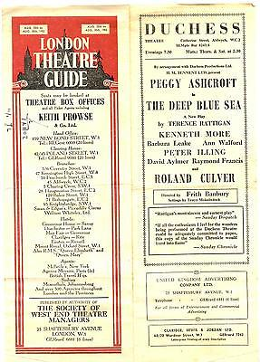 """1952 """"LONDON THEATRE GUIDE"""" AUGUST 25th - 30th ~ LISTINGS AND ADVERTISEMENTS"""