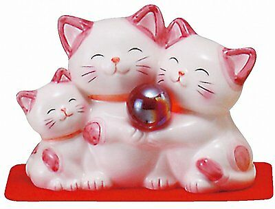 Better fortune Feng shui Cat Happy Cat Savings box Pink Love marriage home M43