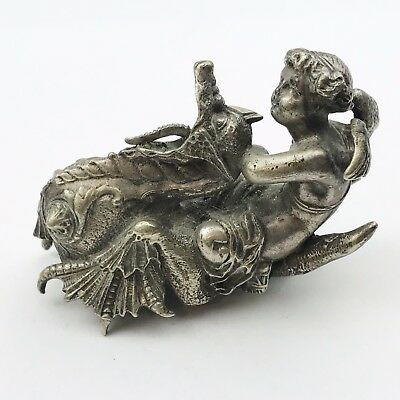 Antique Angel Cherub On Dragon Car Mascot Victorian Marking Unsure Clock