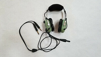 David Clark H10 - 13.4 Dual Aviation Plug Headset - Used in Good condition