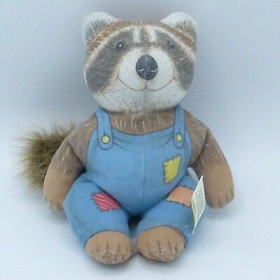 Vintage Raccoon Bobby Coon Beanbag Plush Doll The Toy Works Thornton Burgess