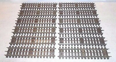 12 LIONEL No. 32 SUPER-O STRAIGHT TRACK SECTIONS with PINS and POWER BLADES-EXC