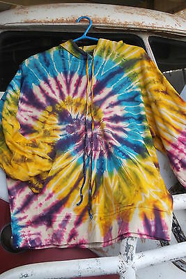 L@@k!new! Freesize To 16+ Thick Tiedye Boho Hippie Doof Festival Hoodie Top-Af60
