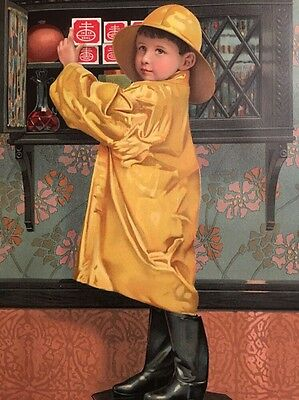 1901  NABISCO National Biscuit Company Color Advertising Child at Cabinet