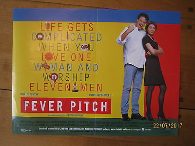 Original Video Poster Fever Pitch 42cm x 30cm