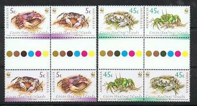 STAMPS  AUSTRALIA COCOS (KEELING) ISLAND 2000 CRABS (Gutter) MNH  lot xx