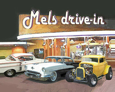 PUT YOUR CAR at MELS American Graffiti Venue Print