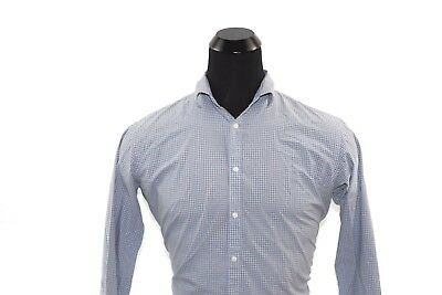 Ben Sherman Men's Button Down Shirt Gray & Blue Size 16 1/2 32-33 Large