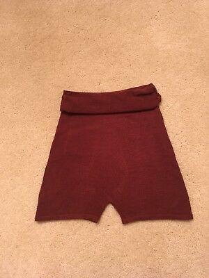 Ballet Warmup Shorts Knit Burgundy Adult XS-S