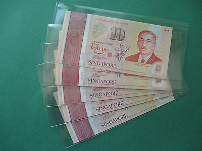 "2015 Singapore Polymer 10 Dollars Commemorative"" Gem Unc 5Pc"