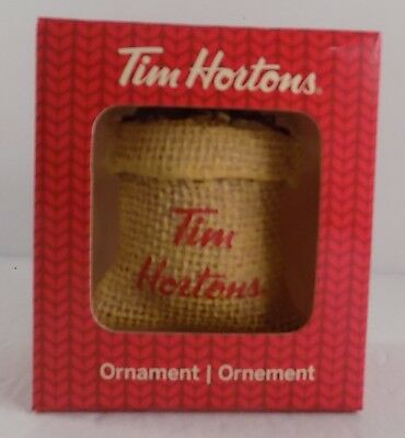 Tim Hortons 2016 coffee bean sack christmas ornament