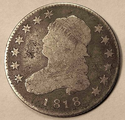 1818 Capped Bust Quarter Nice FREE SHIPPING
