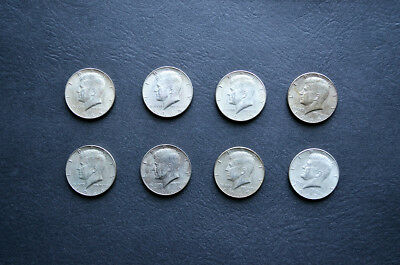 8 Silver Kennedy Halves! $4 Face - 40% silver from 1965-1967. No Reserve!!!