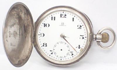 Antique Sterling Silver Omega Pocket Watch - Not Working