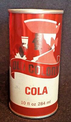 Old Colony Cola Soda Can Straight Steel Punch Top early 80's