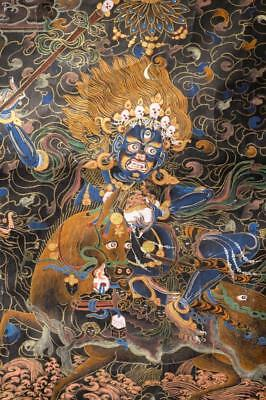 Antique Chinese Tibetan Thangka.