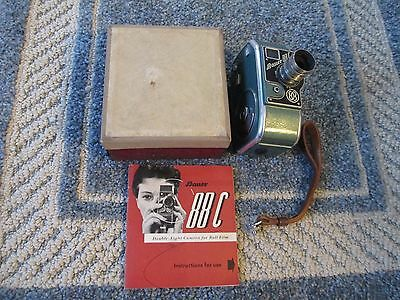 Bauer camera 88C Early Camera ,VG Condition working,with book 1950's -60's nice