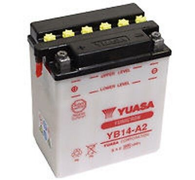 Yuasa Batterie YB14-A2 passt in Honda VF 750 C 1984 RC09 86 ps
