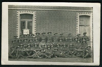 WWI Australian Army Forces Battalion Real Group Photo Postcard #3