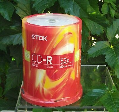 TDK CD-R Disc 700 MB 80 min 52x 100 Pack Spindle Recordable Inscriptable