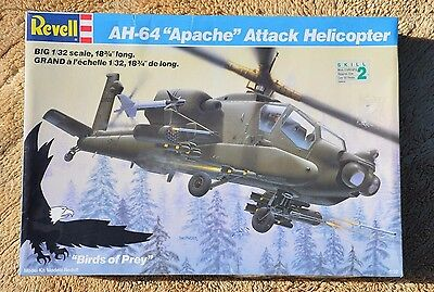 Revell AH-64 Apache Attack Helicopter 1/32 Scale Model 4575