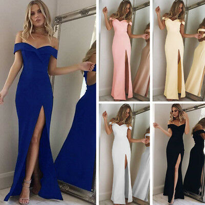 Dress Xmas Party Evening Uk Long dresses Cocktail Prom Bridesmaid Gown Womens