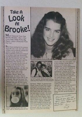 BROOKE SHIELDS Full Page magazine clipping article YOUNG HERE vintage