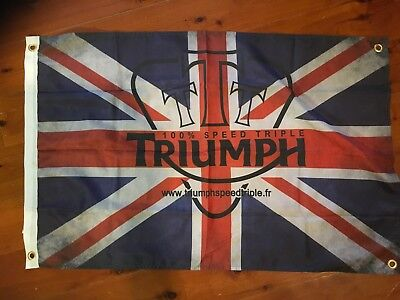 Garage flag motor bike Wall hanging man cave flag novelty sign triumph bikes