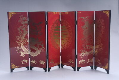 Ancient Chinese Good Chinese Painting  dragon Screen Scroll  AA511