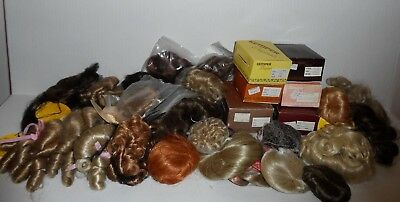 Huge Lot Of 37 Doll Wig New Condition Kemper Global Mini World Monique Playhouse