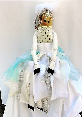 "USA-Made Soft-Sculpture 31"" Gypsy Horse Bridal Doll with Exquisite Detail"