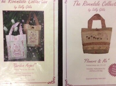 "Stitchery Patterns X 2. Bag "" Little Princess"" & Wall Hanging ""Sweet Nothings"""