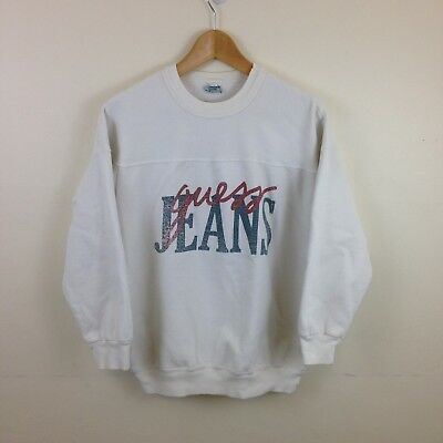 Vintage Guess Jeans Marciano White Sweatshirt - Size Large/XL - Made in USA