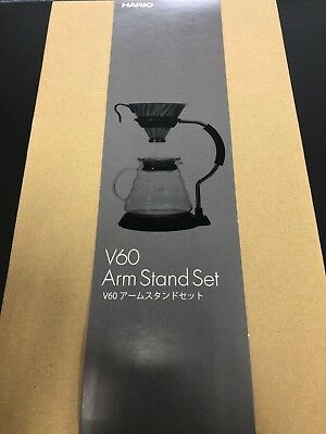 Hario V60 Coffee Dripper Arm Stand Set VAS-8006-HSV 600ml Metal Dripper JAPAN