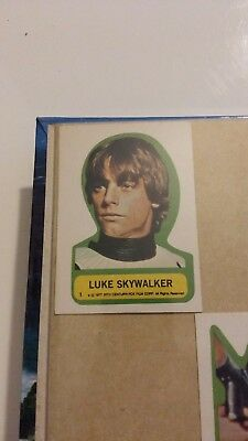 STAR WARS (1977) stickers Topps *1st Series*  #1 to #11 (edge removed)