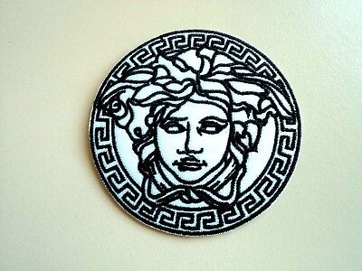 1x Versace Medusa Logo Patch Embroider Cloth Applique Badge Patches Iron Sew On