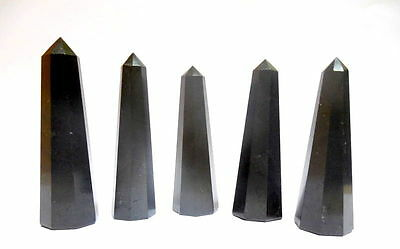 AAA++ Black Tourmaline Chakra Wand Crystal Point Reiki Healing Crystal Obelisk