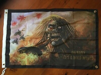 Mad max 1 2 3 garage flag  bar flag man cave bar ware pool room mel Gibson