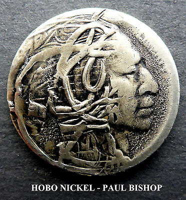 Hobo Nickel #hn1229    By Paul Bishop I'm Listing 7 New Hobo's In The Auction A